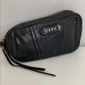 L.A.M.B. Black Leather Clutch